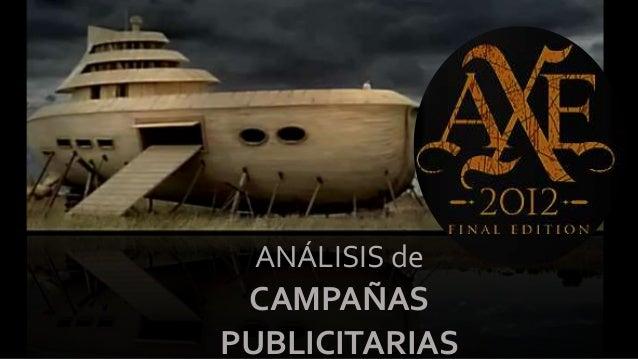 ANÁLISIS de CAMPAÑAS PUBLICITARIAS