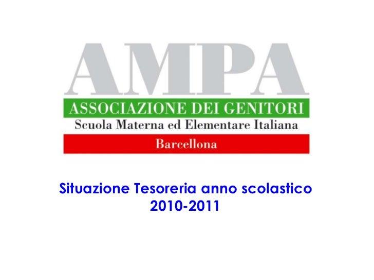 Situazione Tesoreria anno scolastico             2010-2011