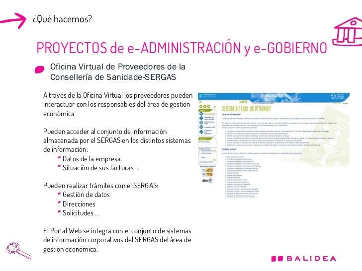 Presentaci n corporativa balidea espa ol for Fides sergas oficina virtual