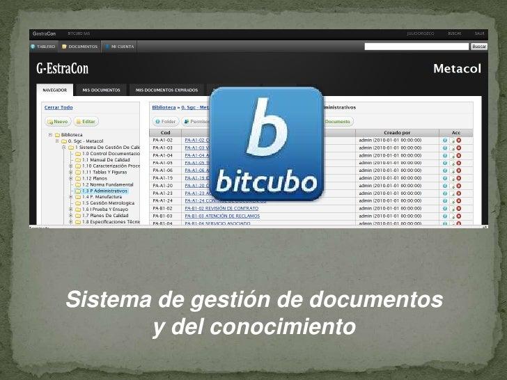 Sistemade gestiónde documentos<br />y del conocimiento<br />