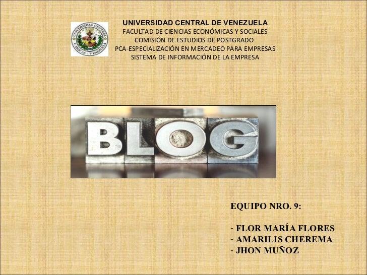 UNIVERSIDAD CENTRAL DE VENEZUELA FACULTAD DE CIENCIAS ECONÓMICAS Y SOCIALES COMISIÓN DE ESTUDIOS DE POSTGRADO  PCA-ESPECIA...