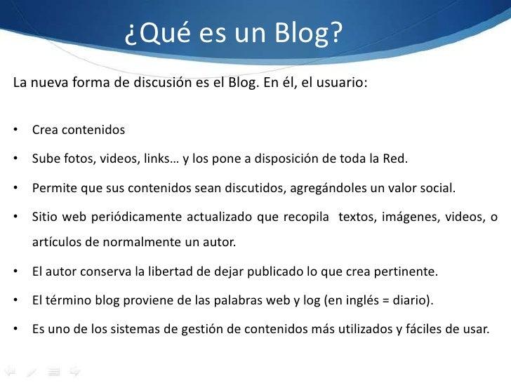 Presentación blogger Slide 2