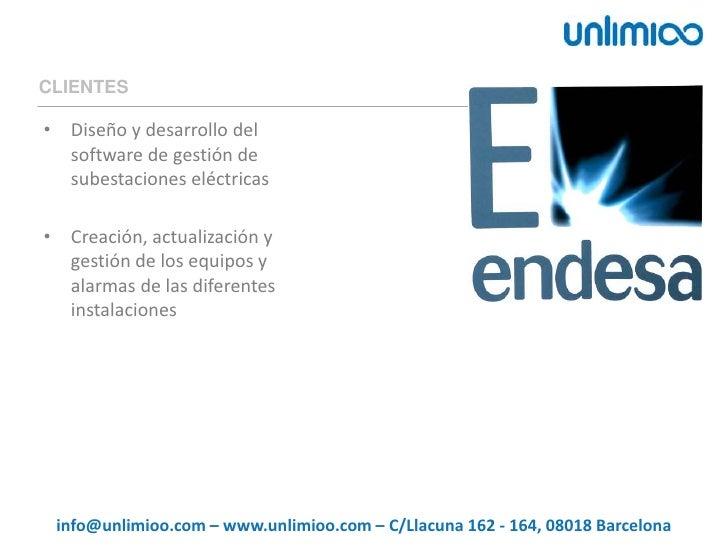 CLIENTES<br />Diseño y desarrollo del software de gestión de subestaciones eléctricas<br />Creación, actualización y gesti...