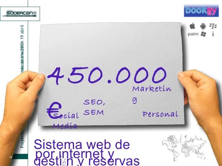 450.000 € Sistema web de gesti ó n y reservas por internet y smartphones Marketing SEO, SEM Personal Social Media