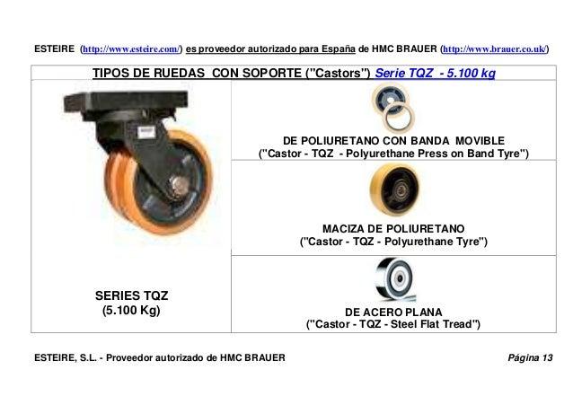 ESTEIRE (http://www.esteire.com/) es proveedor autorizado para España de HMC BRAUER (http://www.brauer.co.uk/) TIPOS DE RU...