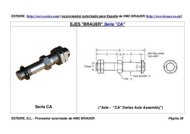 """ESTEIRE (http://www.esteire.com/) es proveedor autorizado para España de HMC BRAUER (http://www.brauer.co.uk/) EJES """"BRAUE..."""