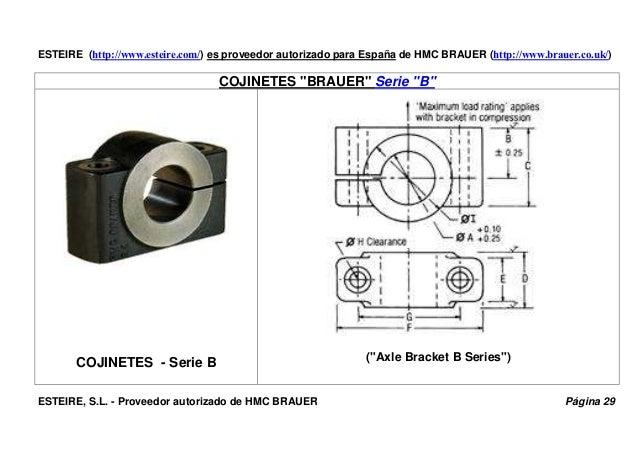 """ESTEIRE (http://www.esteire.com/) es proveedor autorizado para España de HMC BRAUER (http://www.brauer.co.uk/) COJINETES """"..."""