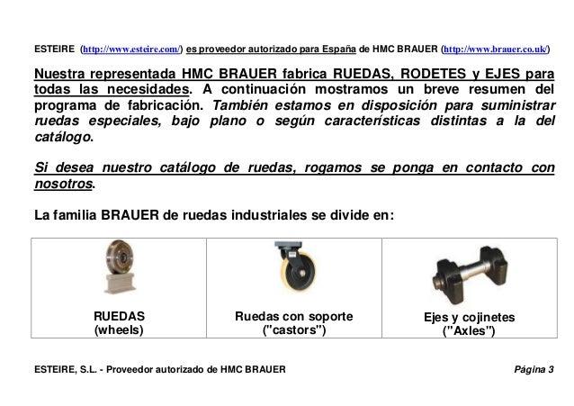 Ruedas industriales BRAUER - ESTEIRE. Presentación. Slide 3