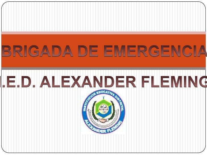 BRIGADA DE EMERGENCIA<br />I.E.D. ALEXANDER FLEMING<br />