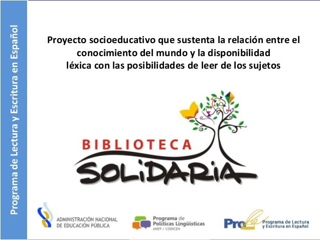 Proyecto socioeducativo que sustenta la relación entre el conocimiento del mundo y la disponibilidad léxica con las posibi...