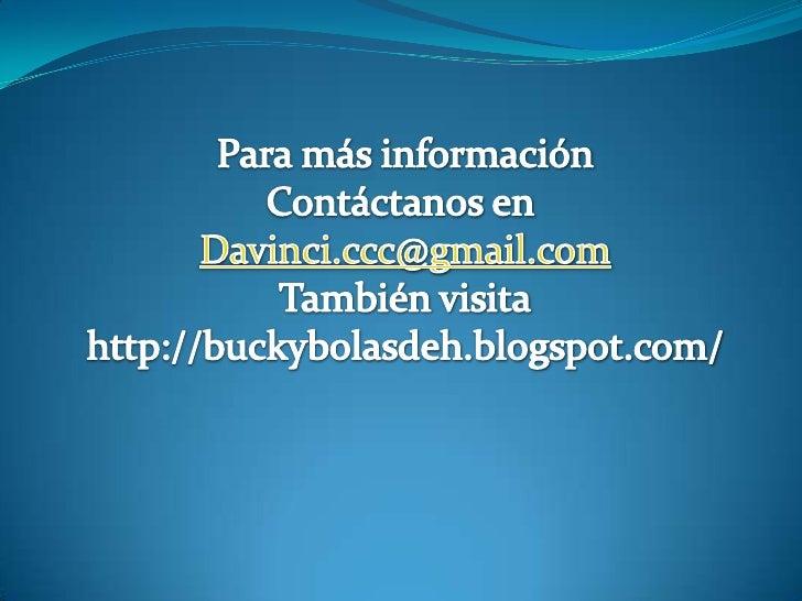 PresentacióN Buckybolas