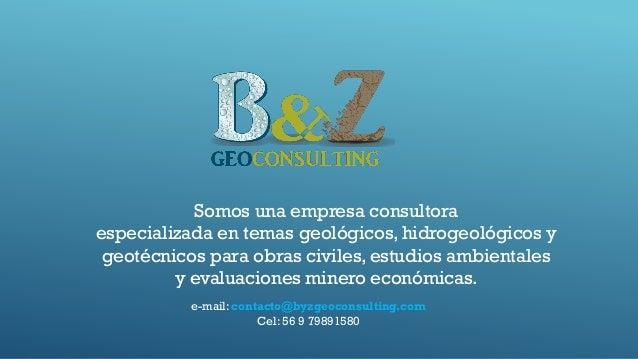Somos una empresa consultora especializada en temas geológicos, hidrogeológicos y geotécnicos para obras civiles, estudios...