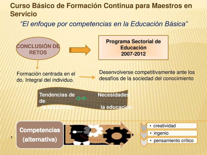 """Curso Básico de Formación Continua para Maestros en Servicio<br />""""El enfoque por competencias en la Educación Básica""""<br ..."""