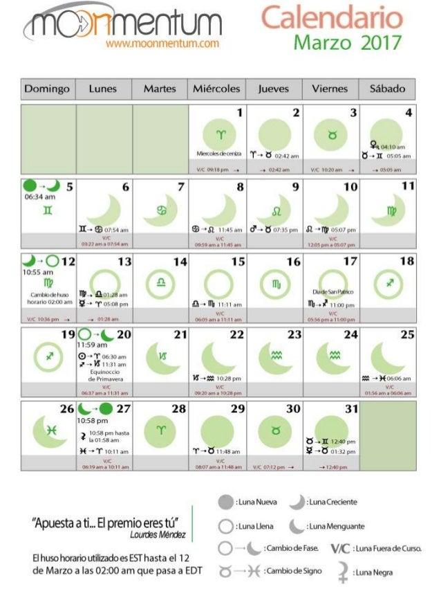 Calendario astrologico lunar marzo 2017 Calendario 2017 con lunas