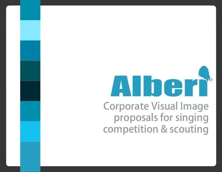 Corporate Visual Image  proposals for singingcompetition & scouting
