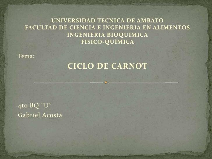 UNIVERSIDAD TECNICA DE AMBATO  FACULTAD DE CIENCIA E INGENIERIA EN ALIMENTOS             INGENIERIA BIOQUIMICA            ...