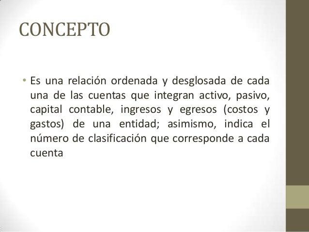 Presentación Catálogo De Cuentas Y Estructura