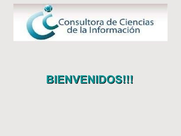 BIENVENIDOS!!!
