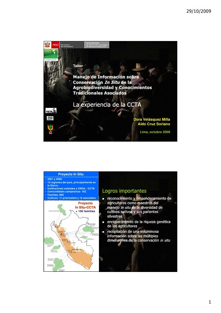 29/10/2009                           Taller                         Manejo de Información sobre                       Cons...