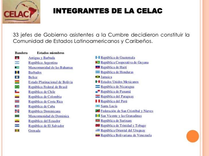 Resultado de imagen para que paises integran a la celac