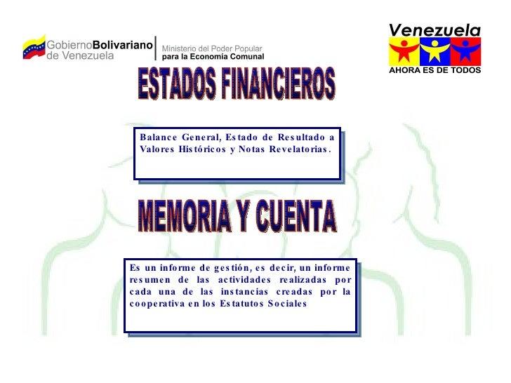 MEMORIA Y CUENTA Es un informe de gestión, es decir, un informe resumen de las actividades realizadas por cada una de las ...