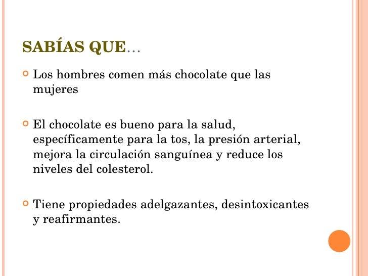 Presentación chocolate