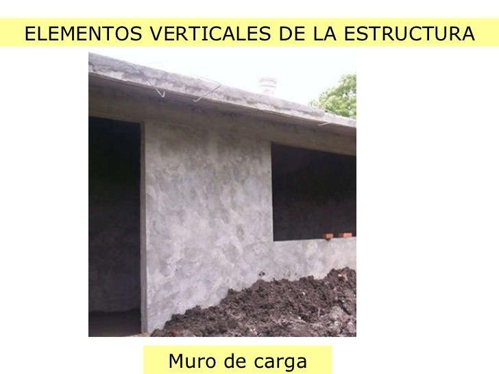 ELEMENTOS VERTICALES DE LA ESTRUCTURA Muro de carga