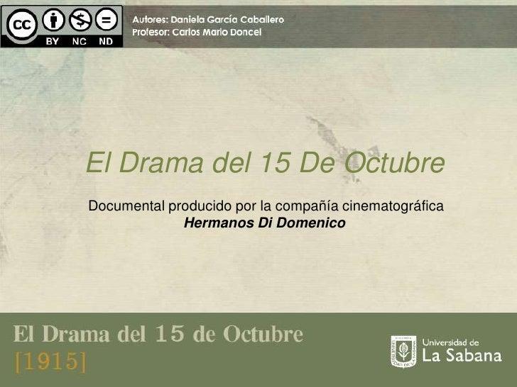 Presentación cine en colombia