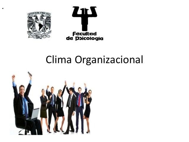 . Clima Organizacional