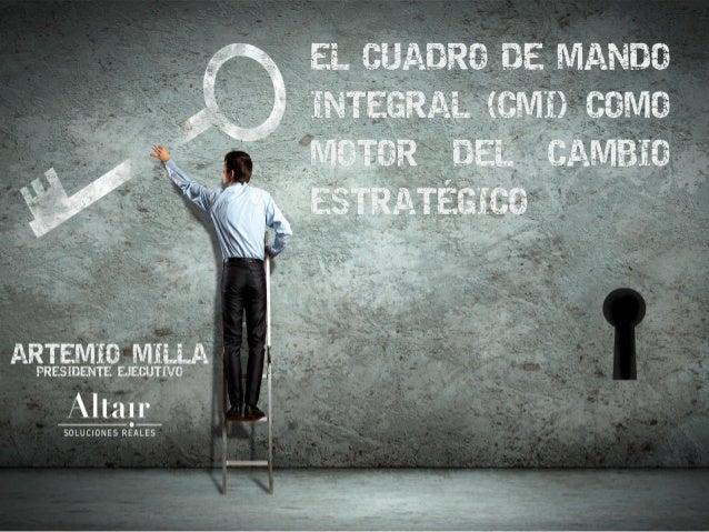 EL CUADRO DE MANDO INTEGRAL (CMI) COMO MOTOR DEL CAMBIO ESTRATÉGICO