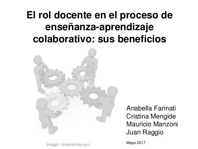 El rol docente en el proceso de enseñanza-aprendizaje colaborativo: sus beneficios Anabella Farinati Cristina Mengide Maur...