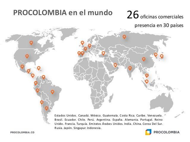 Presentaci n colombia 2015 for Oficinas comerciales en el exterior