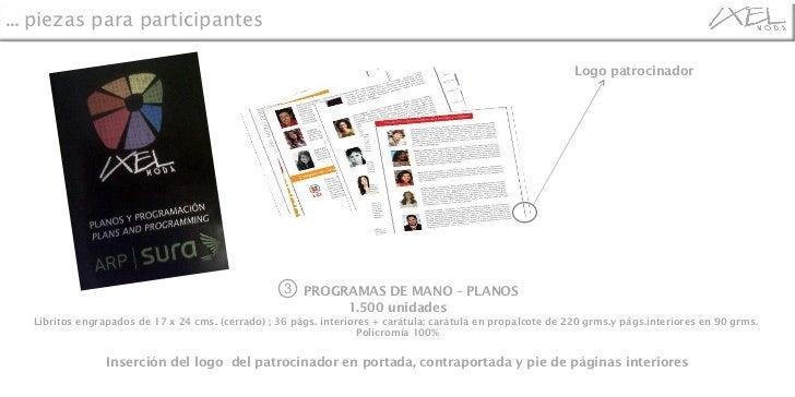 ③   PROGRAMAS DE MANO – PLANOS 1.500 unidades Libritos engrapados de 17 x 24 cms. (cerrado) ; 36 págs. interiores + carátu...