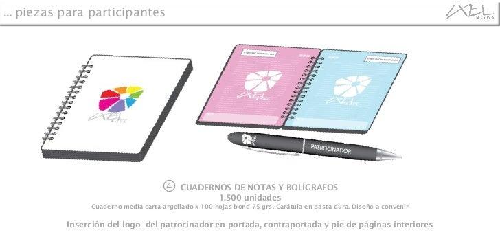 ④  CUADERNOS DE NOTAS Y BOLÍGRAFOS 1.500 unidades Cuaderno media carta argollado x 100 hojas bond 75 grs. Carátula en past...