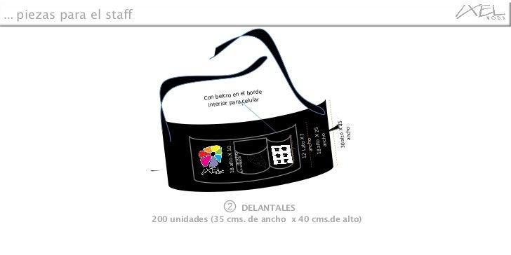 ②  DELANTALES 200 unidades  (35 cms. de ancho  x 40 cms.de alto) …   piezas para el staff eco-amigable 12  Lato X 7 ancho ...