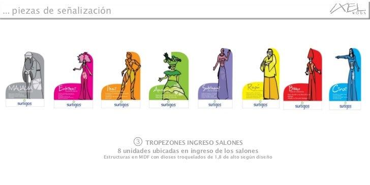 ③   TROPEZONES INGRESO SALONES 8 unidades ubicadas en ingreso de los salones Estructuras en MDF con dioses troquelados de ...