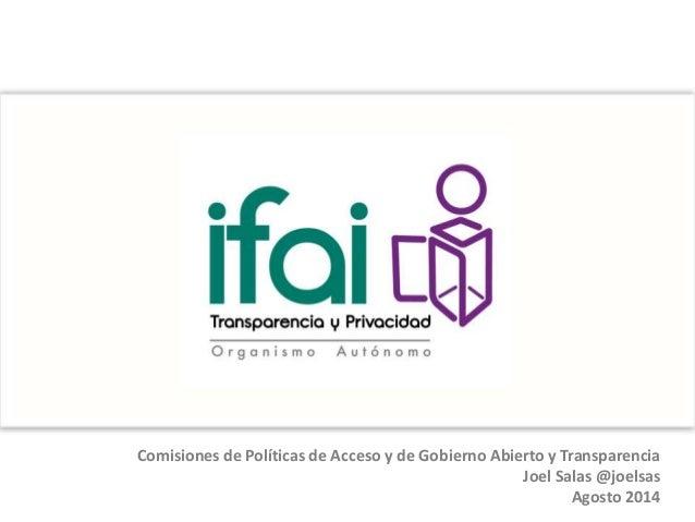 Presentación de Comisiones del #NuevoIFAI a Unidades de Enlace de la APF