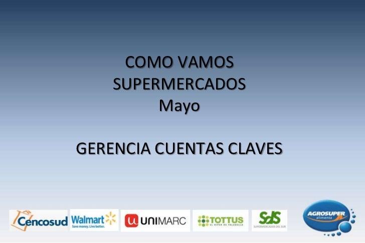 COMO VAMOS SUPERMERCADOSMayoGERENCIA CUENTAS CLAVES<br />