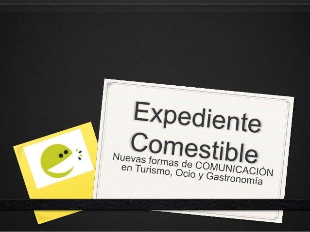 Comunicación especializada en turismo, ocio y gastronomía No hay fórmulas mágicas, sólo conocimientos profesionales para u...