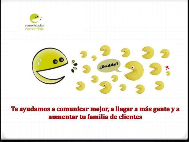 Presentación de COMUNICACIÓN COMESTIBLE. Empresa de comunicación especializada en Turismo, Ocio y Gastronomía