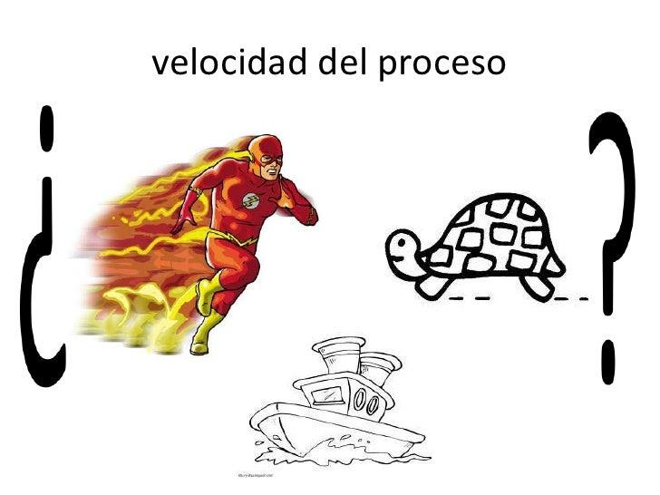 velocidad del proceso
