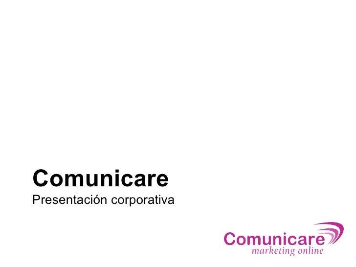 Comunicare Presentación corporativa