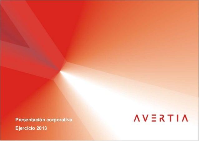 Presentación corporativa Ejercicio 2013