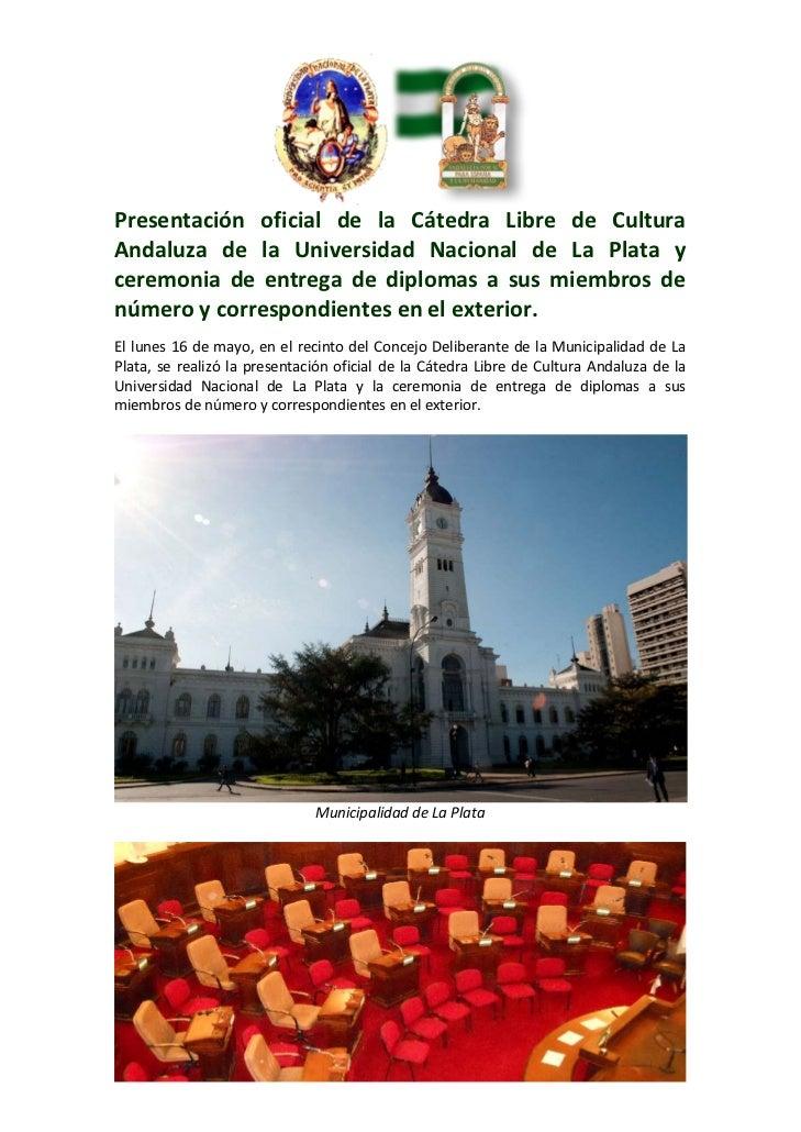 Presentación oficial de la Cátedra Libre de CulturaAndaluza de la ...