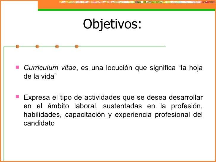 Presentaci n curriculum for Oficina virtual de formacion profesional para el empleo