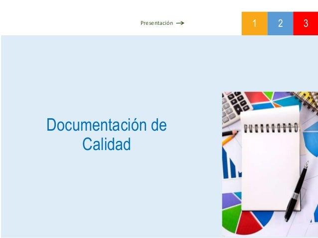 Documentación de Calidad 1 2 3Presentación