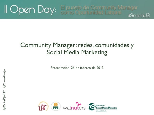 Community Manager: redes, comunidades y                                        Social Media Marketing                     ...