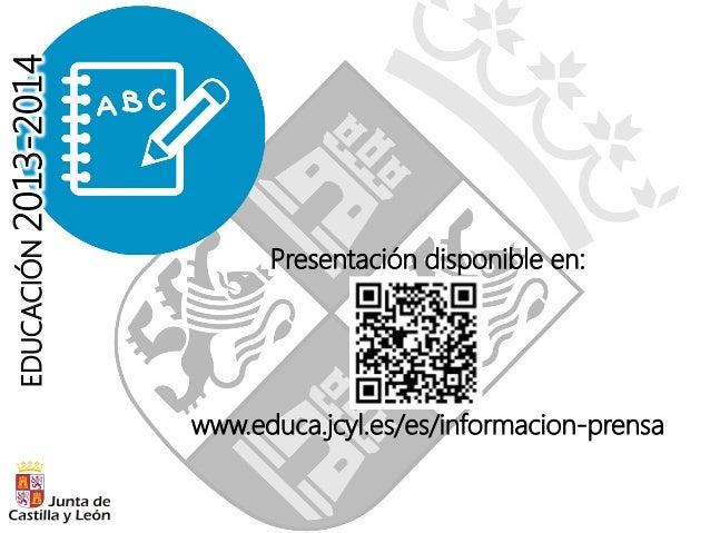 Presentación curso escolar Castilla y León 2013 2014