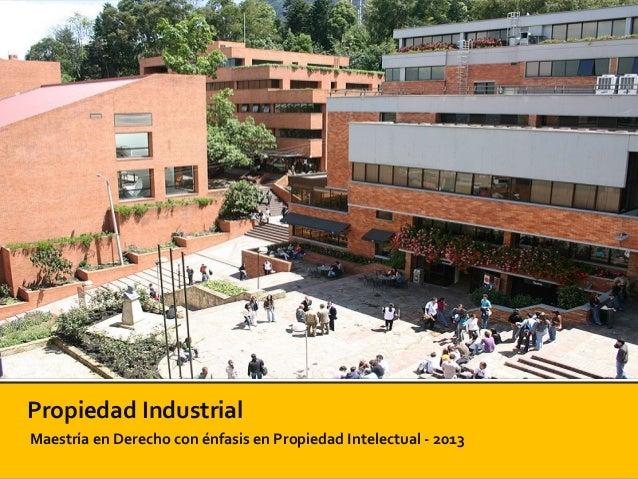 Propiedad IndustrialMaestría en Derecho con énfasis en Propiedad Intelectual - 2013