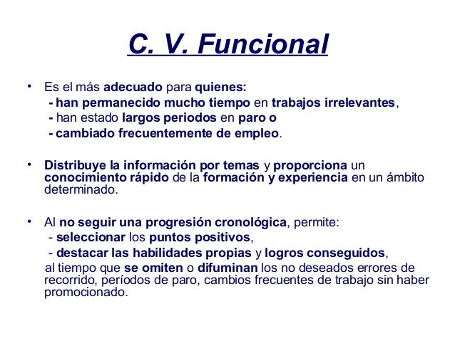 c v funcional